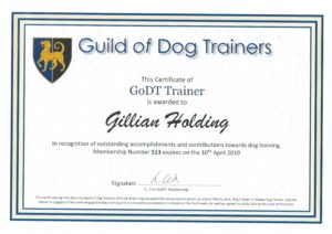 Guild of Dog Trainers 2018